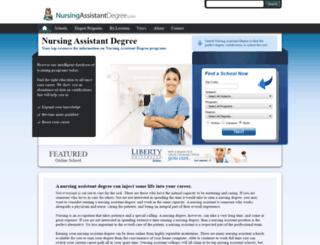 nursingassistantdegree.com screenshot