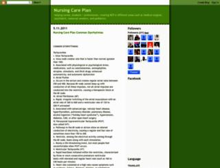 nursingcareplan.blogspot.com screenshot