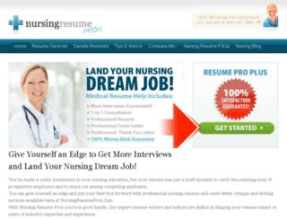 nursingresumepros.com screenshot