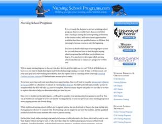 nursingschoolprograms.com screenshot