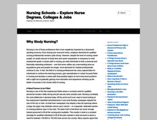 nursingschools.org screenshot