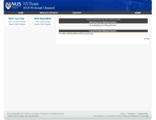 nuscast.nus.edu.sg screenshot