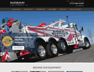 nussbaumequipment.com screenshot