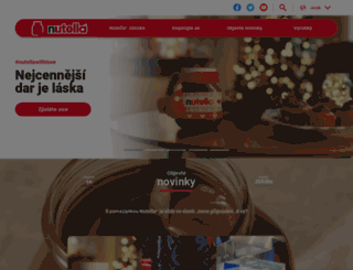 nutella.cz screenshot