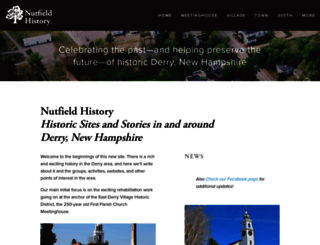 nutfieldhistory.org screenshot