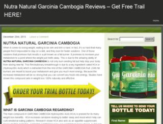 nutranaturalgarciniacambogiareviews.com screenshot