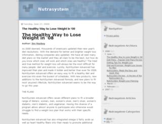nutrasystem.blogspot.com screenshot