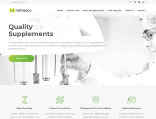 nutresco.com screenshot