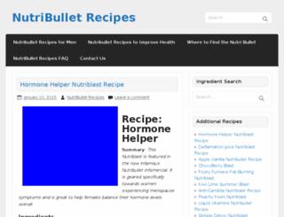 nutribulletrecipes.net screenshot