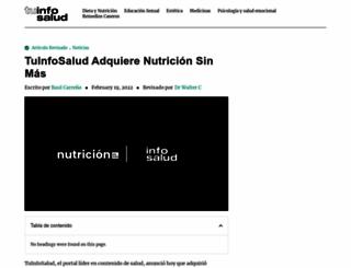 nutricionsinmas.com screenshot
