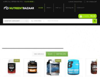 nutrientbazaar.com screenshot