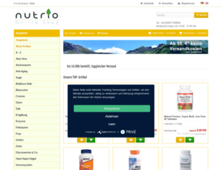 nutrio-shop.com screenshot