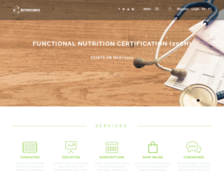 nutriscience.pt screenshot