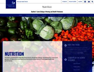 nutrition.gsu.edu screenshot