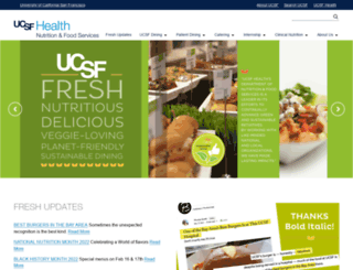 nutrition.ucsf.edu screenshot