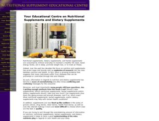 nutritional-supplement-educational-centre.com screenshot