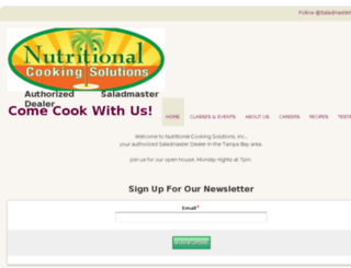 nutritionalcookingsolutions.net screenshot