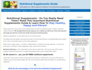 nutritionalsupplementsguide.org screenshot