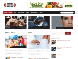 nutritionandhealthcare.info screenshot