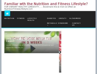 nutritionfitnesslifestyle.socialprofitmachine.com screenshot