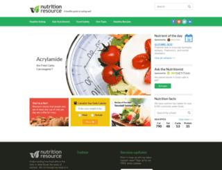 nutritionresource.com screenshot