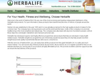 nutritionslim.co.uk screenshot