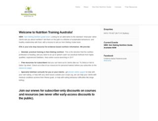 nutritiontrainingaustralia.com.au screenshot