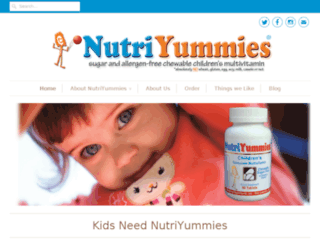 nutriyummies.com screenshot