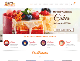 nutsaboutcakes.com screenshot