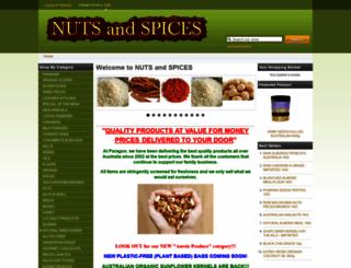 nutsandspices.com.au screenshot