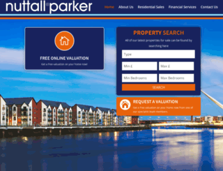 nuttallparker.com screenshot