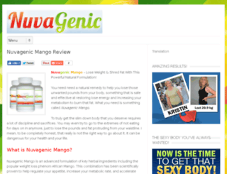 nuvagenicmangodiet.com screenshot