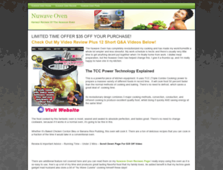 nuwaveovenreviewer.com screenshot