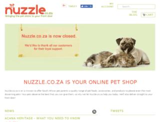 nuzzle.co.za screenshot