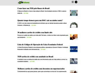 nvalores.com.br screenshot
