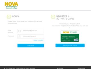 nvcc.educatecard.com screenshot