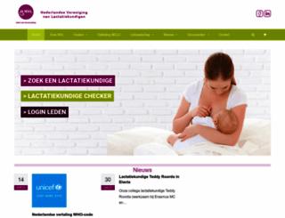 nvlborstvoeding.nl screenshot