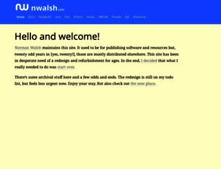nwalsh.com screenshot