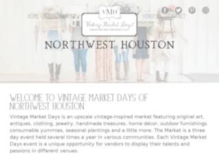 nwhouston.vintagemarketdays.com screenshot