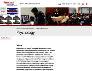 nwkpsych.rutgers.edu screenshot