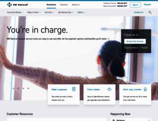 nwnatural.com screenshot