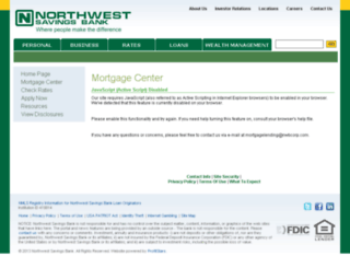 nwsb.mortgagewebcenter.com screenshot