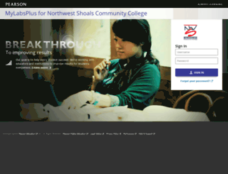 nwscc.mylabsplus.com screenshot