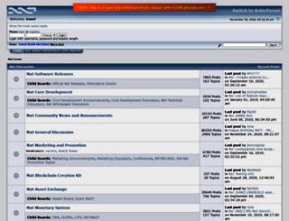nxtforum.org screenshot