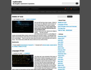 nyakionakio.wordpress.com screenshot