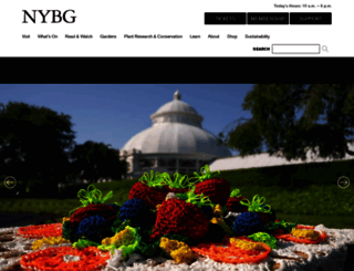 nybg.org screenshot