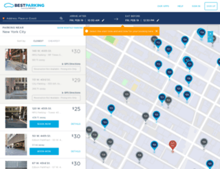 nyc.bestparking.com screenshot