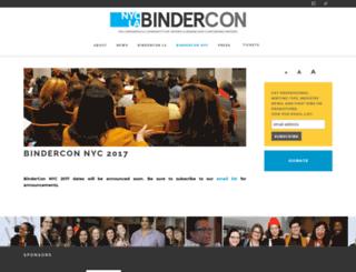 nyc.bindercon.com screenshot