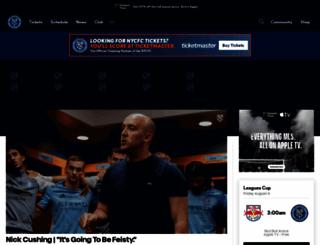 nycfc.com screenshot