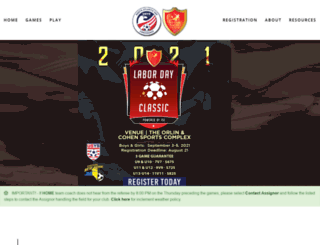 nyclubsoccerleague.com screenshot